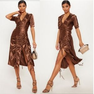 🆕️Pretty Little Thing Satin Ruched Dress
